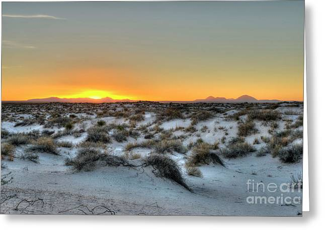 Greeting Card featuring the photograph Desert Sunset by Joe Sparks