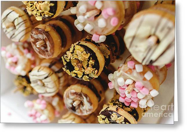 Donuts Of Different Flavors, To Put On An Unhealthy Diet Greeting Card