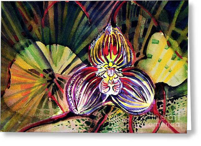 Draculas Orchid Greeting Card