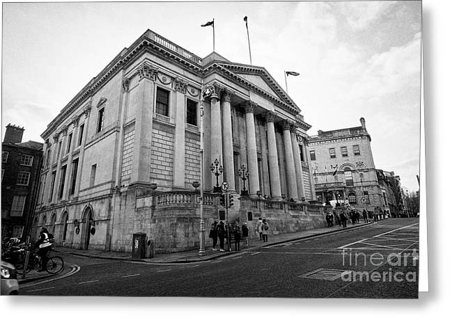 Dublin City Hall Originally The Royal Exchange Dublin Republic Of Ireland Europe Greeting Card by Joe Fox