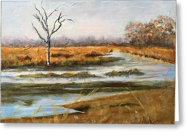 Early Spring On The Marsh Greeting Card