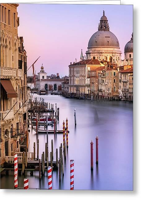 Evening Light In Venice Greeting Card