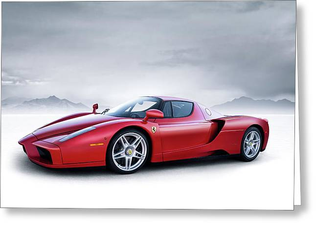 Ferrari Enzo Greeting Card