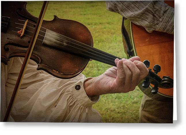 Greeting Card featuring the photograph Fiddler by Guy Whiteley