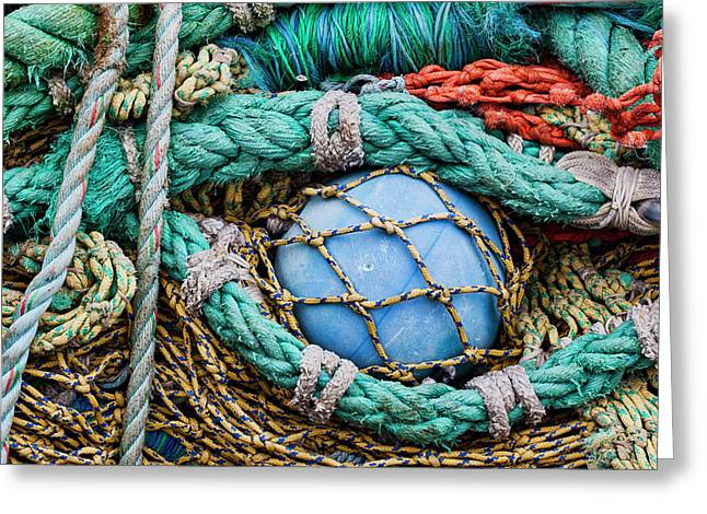 Fishing Nets And Blue Float 7904 Greeting Card