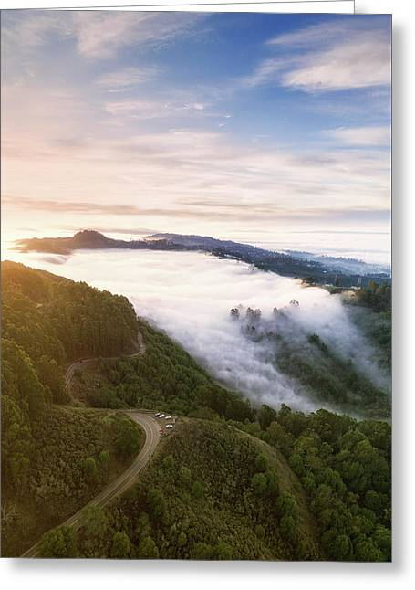 Fogfall, Berkeley Hills Greeting Card by Vincent James