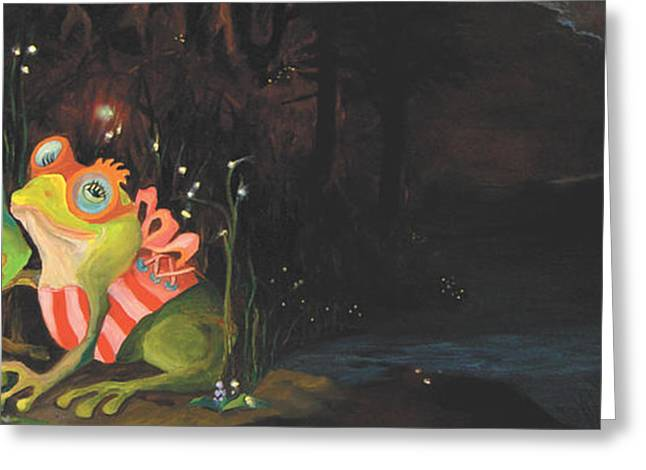 Frogs Of Silver Lake Greeting Card