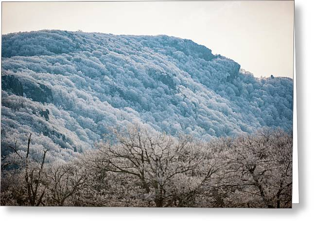 Frost On The Mountain Greeting Card