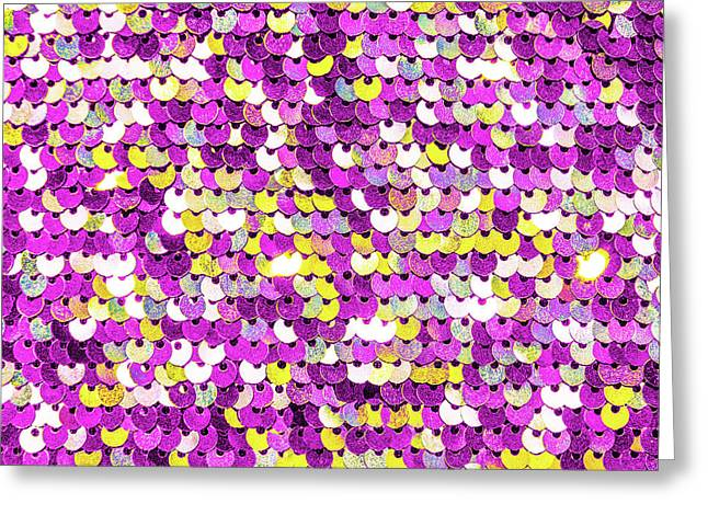 Funky Sequins Greeting Card