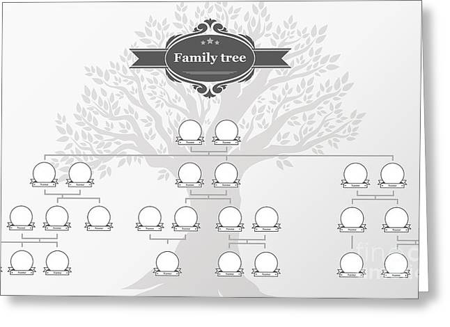 Genealogical Tree Of Your Family.hand Greeting Card