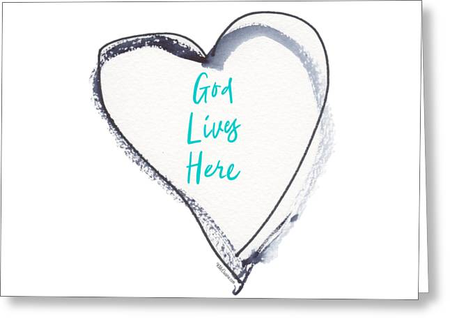 God Lives Here Greeting Card