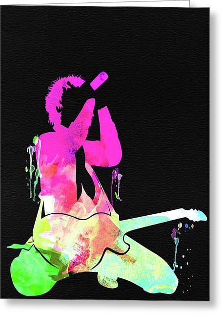 Green Day Watercolor Greeting Card