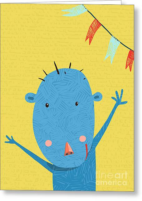 Greeting Card With Cute Monkey Greeting Card