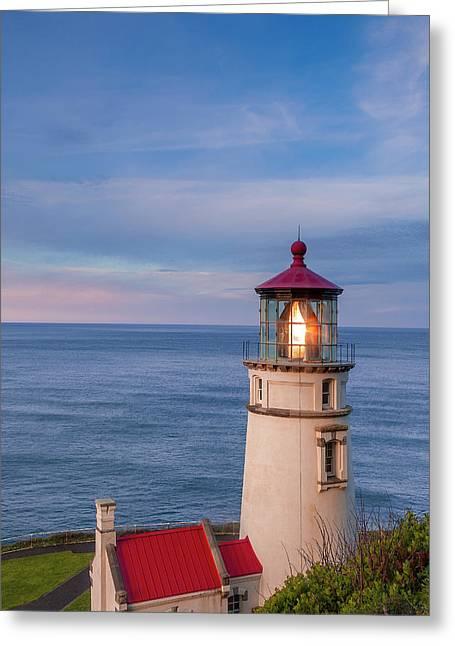 Heceta Head Lighthouse Greeting Card by Andrew Soundarajan