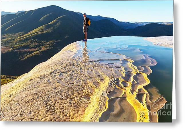 Hierve El Agua, Natural Rock Formations Greeting Card
