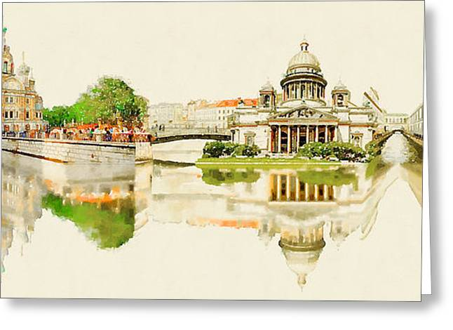 High Resolution Panoramic Water Color Greeting Card by Trentemoller