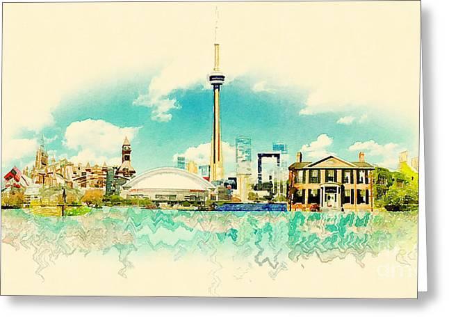 High Resolution Watercolor Panoramic Greeting Card