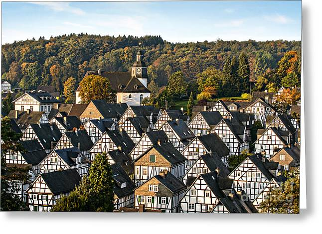 Historic German Fachwerkhaus Buildings Greeting Card
