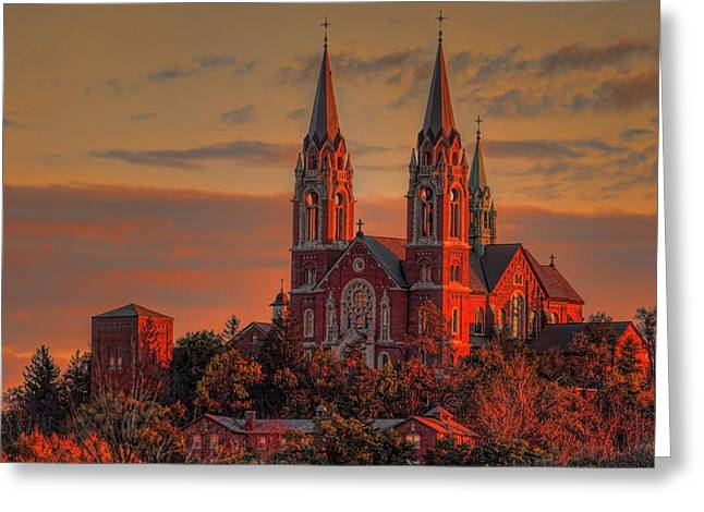Holy Hill Sunrise Square Greeting Card