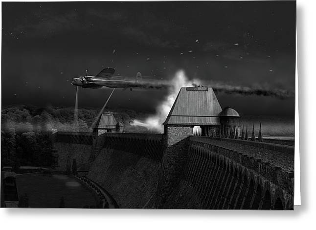 Greeting Card featuring the photograph Hopgood's Last Run Black And White Version by Gary Eason