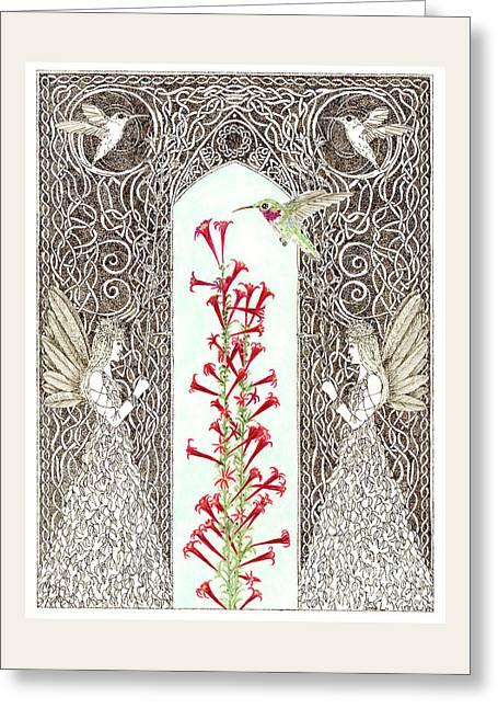 Hummingbird Sanctuary Greeting Card