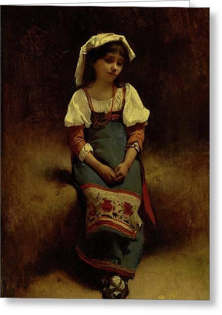 Italian Woman Greeting Card