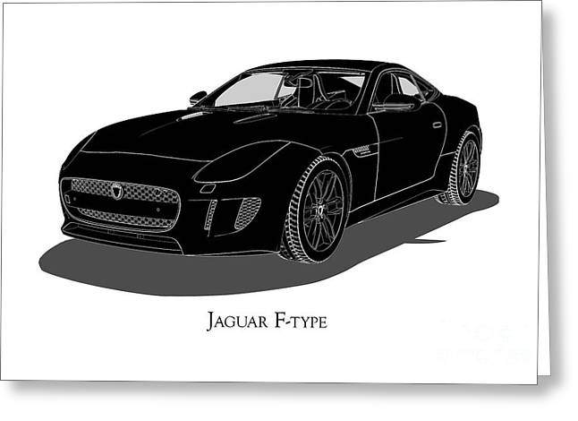 Jaguar F-type - Front View Greeting Card