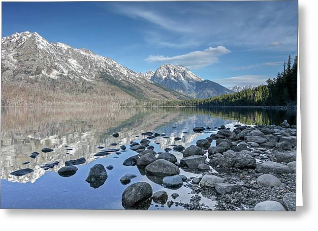 Greeting Card featuring the photograph Jenny Lake by Ronnie and Frances Howard