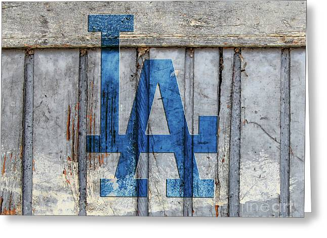 La Dodgers Greeting Card