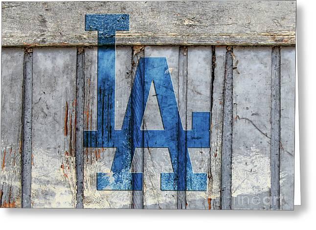 La Dodgers Greeting Card
