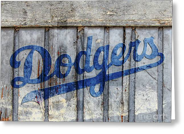 La Dodgers Rustic Greeting Card