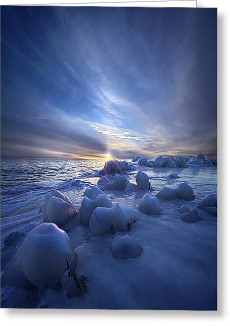 Greeting Card featuring the photograph Letting Go by Phil Koch