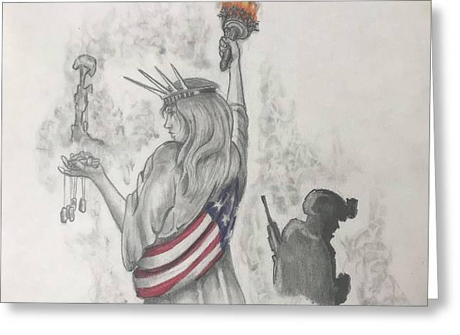 Liberty And Justice For All Greeting Card