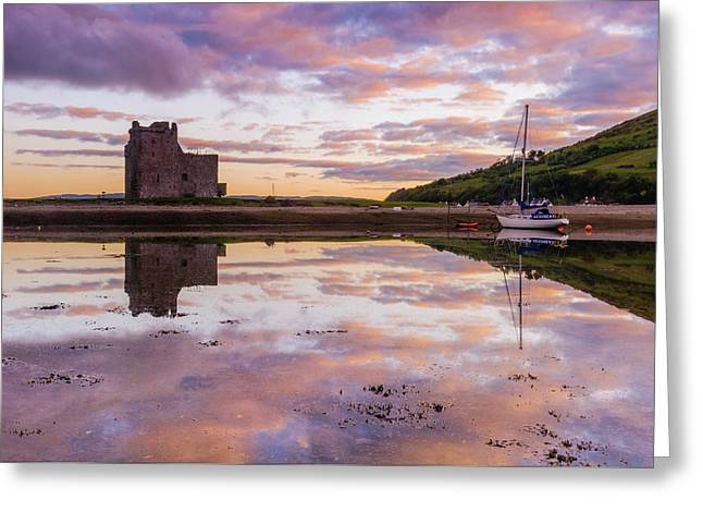 Lochranza Castle, Arran Greeting Card by David Ross