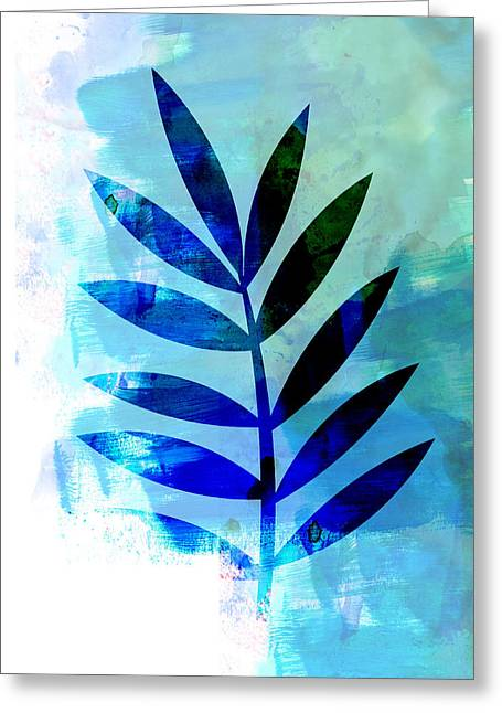 Lonely Leaf Watercolor II Greeting Card