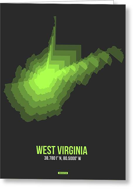 Map Of West Virginia Greeting Card