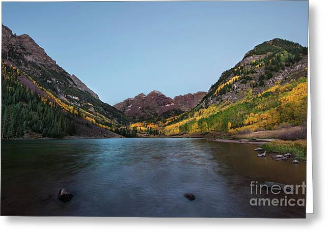 Greeting Card featuring the photograph Maroon Bells by Joe Sparks