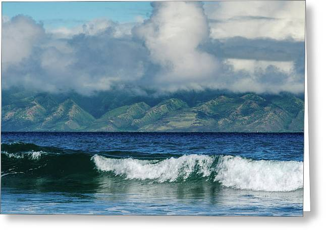 Greeting Card featuring the photograph Maui Breakers by Jeff Phillippi