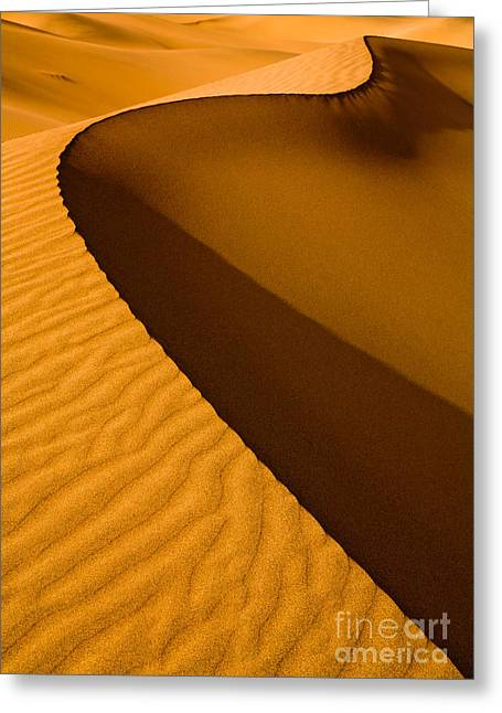 Mesquite Flat Dunes At Death Vakkey Greeting Card