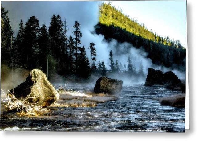 Greeting Card featuring the photograph Misty Morning by Pete Federico