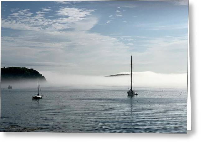 Morning Mist On Frenchman's Bay Greeting Card
