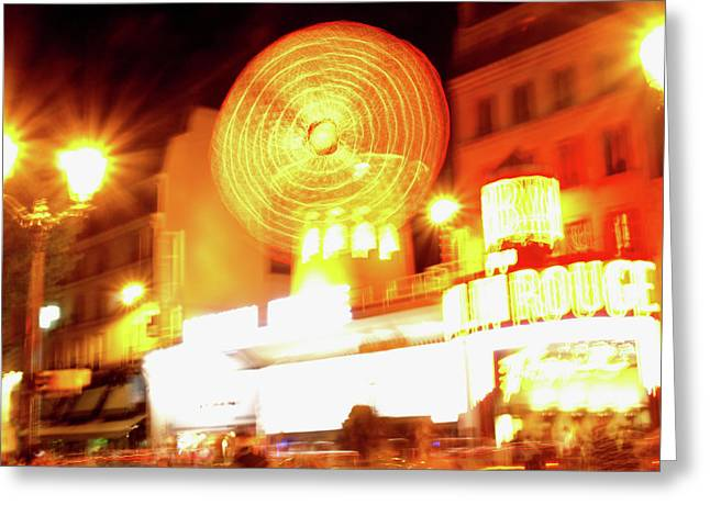 Greeting Card featuring the photograph Moulin Rouge by Edward Lee