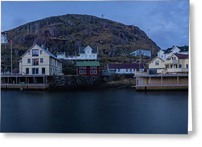 Norwegian Seaside Town Nyksund Greeting Card