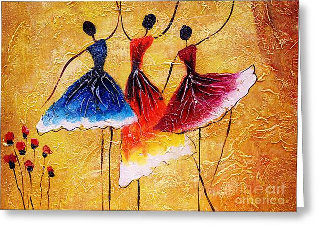 Oil Painting - Spanish Dance Greeting Card