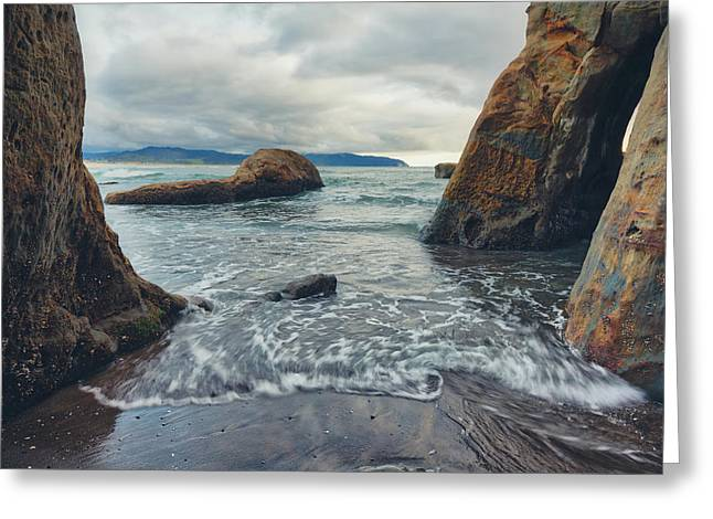 Greeting Card featuring the photograph Oregon Coast by Nicole Young