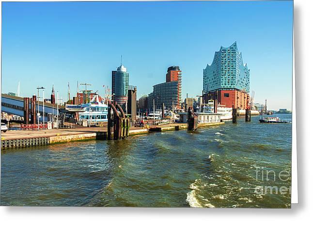 Panoramic View Of Hamburg. Greeting Card
