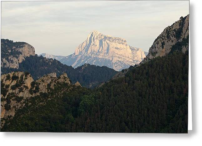 Greeting Card featuring the photograph Pena Montanesa by Stephen Taylor