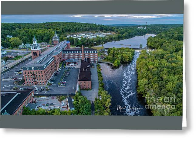 Greeting Card featuring the photograph Ponemah Mill by Michael Hughes