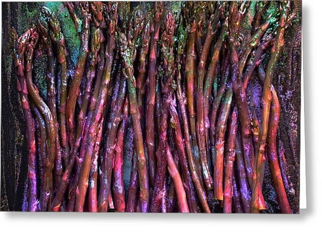 Purple Asparagus Greeting Card