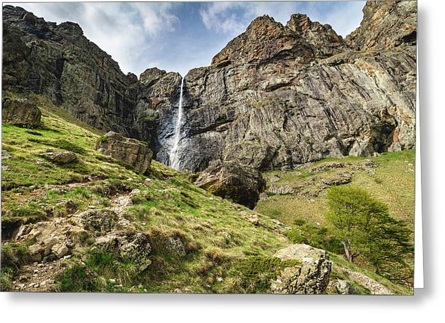 Greeting Card featuring the photograph Raysko Praskalo Waterfall, Balkan Mountain by Milan Ljubisavljevic